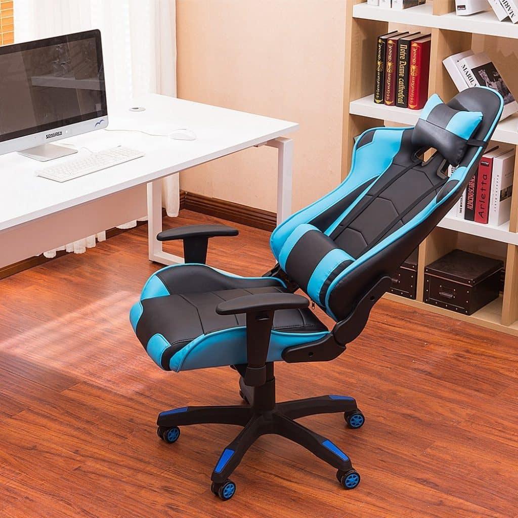 La IWMH Racing Siège Gaming De Luxe est très confortable à coté du bureau