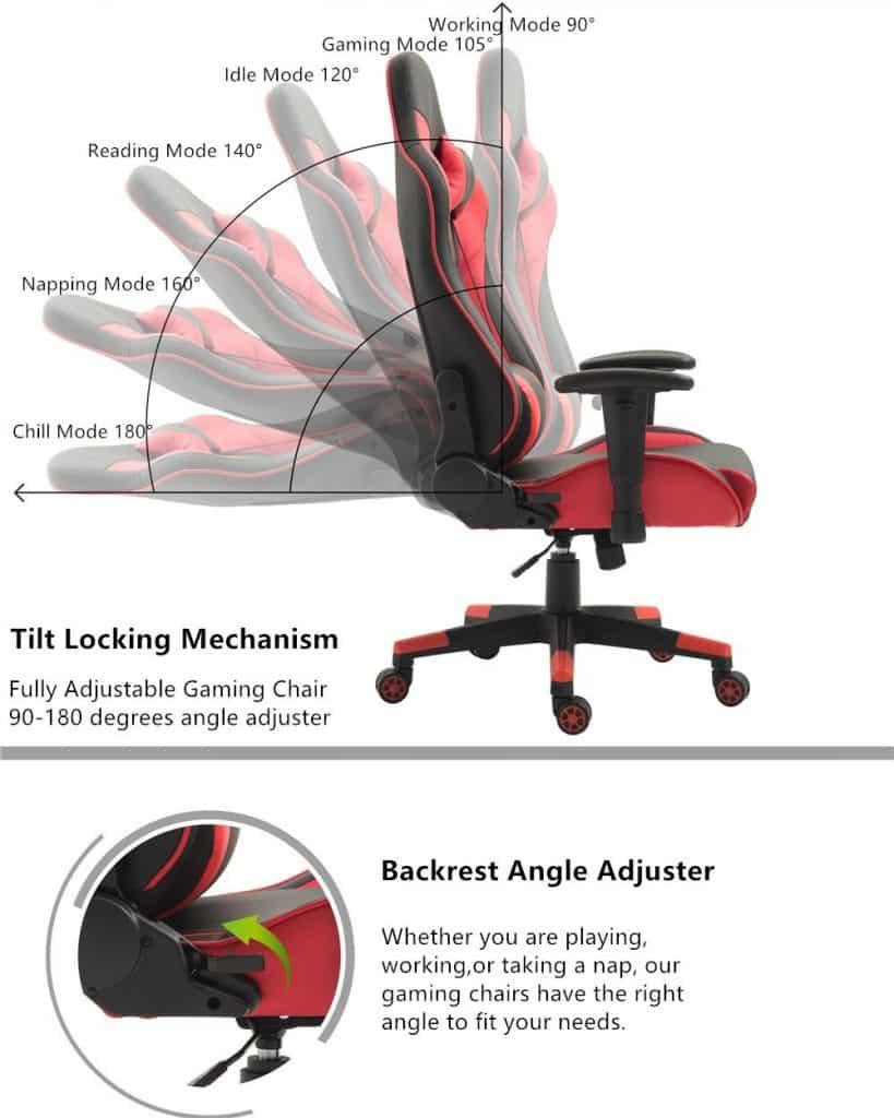 La Chaise Gaming Tiigo est très confortable